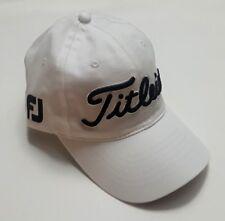 New Titlelist Pro V1 Adjustable Golf Hat Embroidered Foot Joy White One Size