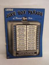 Juke Box Parade of Record Song Hits 1942 Leeds Music Corporations  MYN