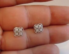 925 STERLING SILVER STUD EARRING FLOWER DESIGN/ SIZE 9MM BY 9MM / NEW DESIGN!