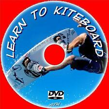 LEARN KITESURFING BOARDING TECHNIQUES STEP BY STEP BEGINNERS EASY GUIDE DVD NEW