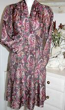 Noa NOA abito dress Empire Vestito Manica Lunga ethnic Dream Shadow Size: XS Nuovo