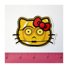 Skateboard Guitar Laptop Phone PVC Clear Decal Sticker - C3PO Red Bow Gold Kitty