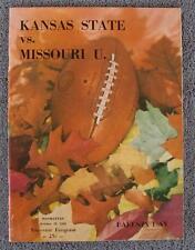 10/20/1956  Missouri Tigers vs Kansas State Wildcats NCAA Football Program