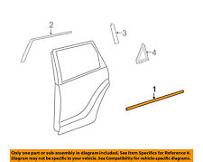 TOYOTA OEM 09-13 Matrix Rear-Window Sweep Belt Felt Molding Left 7574002170