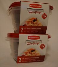 New listing Rubbermaid TupperwareTake Along, 2 - 5.2 Storage Container-Bonus 2 Sets -4Total