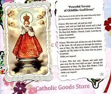 Infant of Prague - Powerful Novena - Scalloped trim - Paperstock Holy Card