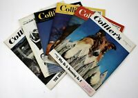 Vintage Lot of 6 1949 COLLIER'S Magazines News, Great Art, Sports, Ads #3