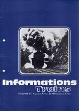 catalogo FULGUREX 1974 Informations Trains No 8 Scale O HO HOn3   F D E  aa