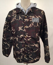 Loser Machine Men's Coach's Jacket w/Hooded Fleece Clyde Camo Size M NWT