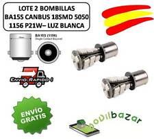2 BOMBILLAS BOMBILLA LED COCHE BA15S CANBUS 18SMD 1156 P21W BLANCO MARCHA ATRAS