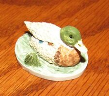 Vintage Peter Fagan Adorables Miniature from Scotland, Duck on Pond