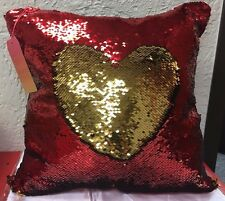 Red / Gold Sequin Pillow  Magic Glitter 16'' colors changing#12 **ships from usa