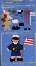 MONICA MARINE Girl in Military Uniform - EK Success Paperkins Paper Dolls