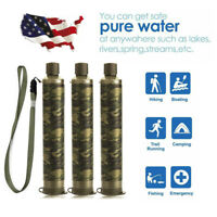 3 Pack Portable Water Filter Straw Purifier Camping Emergency Survival Tool
