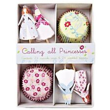 Cupcake Kit Cases Toppers 'Calling all Princesses' x24 Meri Meri Boxed