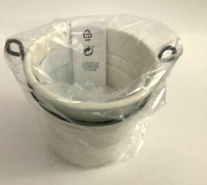 """New IKEA FINTORP Utensil holder, white/black 5 1/8 x 5 1/8 """""""