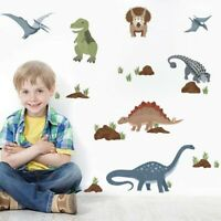 Dinosaur Wall Sticker Cartoon Animals Vinyl Decal Kids Boys Room Wall Art Decor