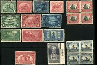 USA #548-550 #614-621 #627-629 Postage Stamps Collection Used Mint LH