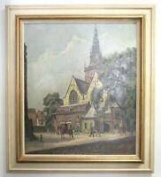 Gemälde B.A. Bongers Aude Kerksplein Amsterdam