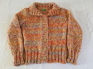 Of Benetton Made In Italy Multicolor Cardigan Wool Alpaca Small Petite Sweater