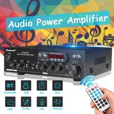 Sunbuck 2000W bluetooth Power Amplifier 2Ch AMP Home Stereo FM AUX SD 110V/12V