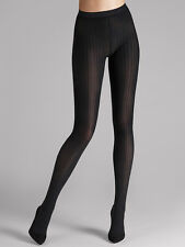 Wolford Fine Cotton Rib Tights Color Anthracite (Grey) Sz MEDIUM 15004 - 10