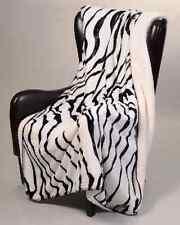 "Zebra Sherpa Luxury Throw Light Weight Super Soft Blanket 50"" x 70"""