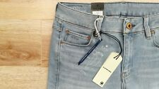 "WOMEN'S G-STAR RAW BNWT 3301 W27"" L32"" BLUE WASHED LOW BOYFRIEND FLARE JEANS 14"