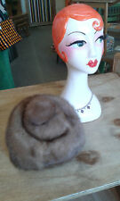 Vintage mink ladies hat - Small size