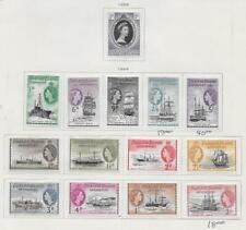 14 Falkland Islands Dependencies Stamps from Quality Old Antique Album 1953-1954
