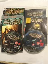2 PLAYSTATION 3 PS3 GAMES BIOSHOCK 1 I + 2 II +BOXES & INSTRUCTIONS COMPLETE PAL