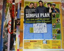 Simple Plan - Magazine Poster Clippings Mini Collection # 1