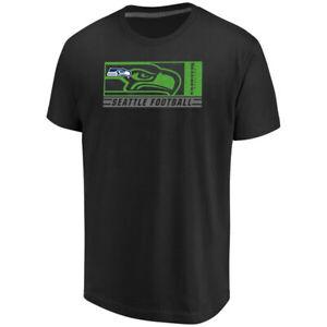 Men's Majestic Black Seattle Seahawks Hook and Ladder T-Shirt  Size L