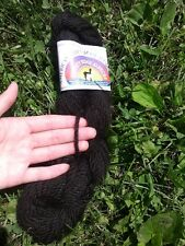 100% Alpaca 3 Ply Bulky Yarn Black