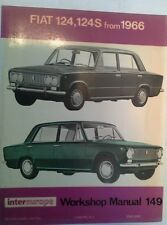 OWNERS WORKSHOP MANUAL FIAT 124, 124S 1966 INTEREUROPE