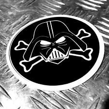 darth vader star wars pirate desgn sticker 97mm
