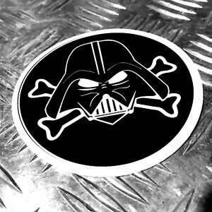 darth vader star wars pirate desgn sticker 97mm