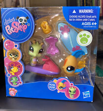 Littlest Pet Shop Lps #1796 1797 Seahorse Heart Fish Brand New! In Box!