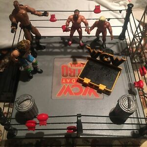 WCW Monday Nitro Arena Playset Wrestling Ring with Damaged Box With Instr