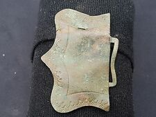 Stunning Post Medieval bronze/copper buckle plate beautiful design Uk find L3L
