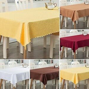 Rectangle Tablecloth Dining Table Cloth Protector Wedding Party Decor Washable