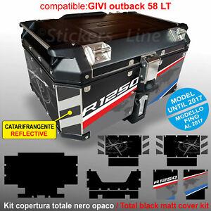 Kit COMPLETO adesivi COMPATIBILI bauletto top case GIVI 58 LT 2017 x BMW R1250GS