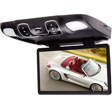 "15.6"" Car Drop Down Roof DVD/TV Player Monitor Black Universal HD Game FM SD USB"