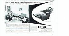 Publicité Advertising 067  1957  Erton  sièges  fauteuil Hop-Relax Marwell