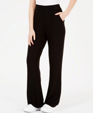NWT GUESS Comfy Opal Flare Wide Leg Jet Black Pants for Yoga Gym Fitness XS