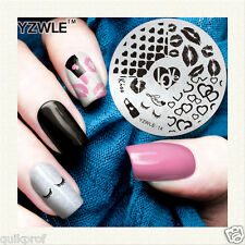 Stamping NailArt Image Plate Steel Template Polish Manicure Stencil Tool (ns-12)
