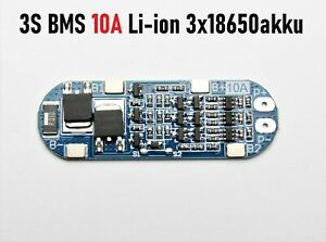 3S BMS 10A Li-ion 18650 PCB Charger Lithium Battery Protection Board 11.1V 12.6V