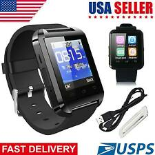 Bluetooth Smart Watch For Samsung iPHONE Android Brand Wrist SLIM Black USA