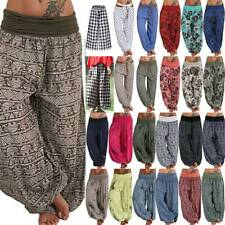Womens Casual Baggy Hareem Plus Size Harem Trousers Gypsy Hippie Boho Yoga Pants