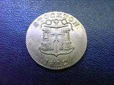 Token: Durham, Stockton Robert Christopher & Thomas Jennett Silver Shilling 1812